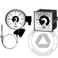 电接点度盘式温度计